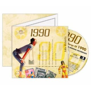 Birthday Gifts or Anniversary Gifts, 1990 Classic Years CD Card