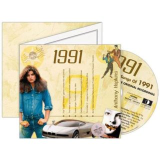 Birthday Gifts or Anniversary Gifts, 1991 Classic Years CD Card