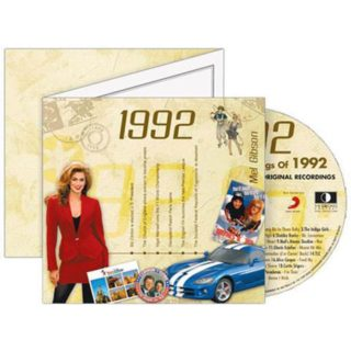 Birthday Gifts or Anniversary Gifts, 1992 Classic Years CD Card