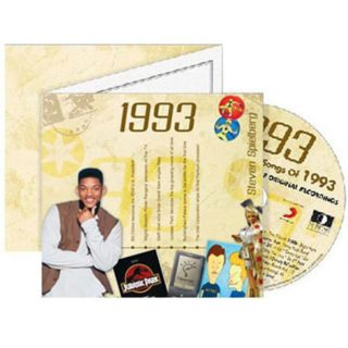 Birthday Gifts or Anniversary Gifts, 1993 Classic Years CD Card