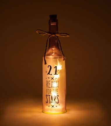 21st Birthday Wishlight Bottle - 21 Reach for the Stars