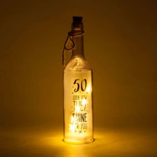 50th birthday Wishlight Bottle