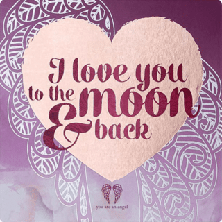 You Are An Angel Fridge Magnet - I Love You to the Moon and Back