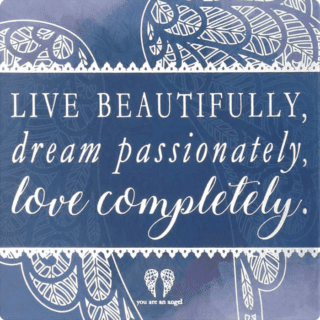 You Are An Angel Fridge Magnet - Live Beautifully, Dream Passionately, Love Completely