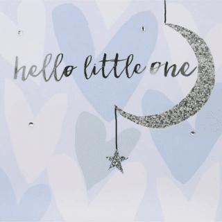 Blush Gems Greeting Card – Hello Little One Baby Boy Card