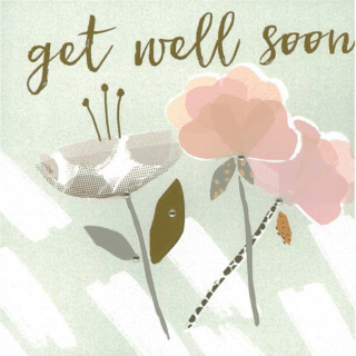 Blush Greeting Card with Gems – Get Well Soon