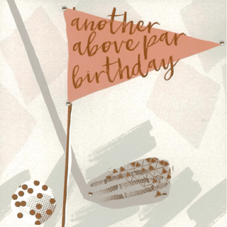 Blush Greeting Card with Gems – Another Above Par Birthday