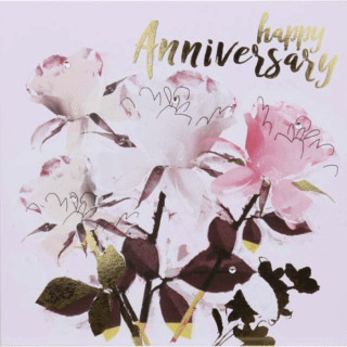 Anniversary Card – Happy Anniversary - Botanicals Greeting Card