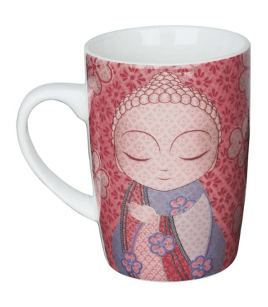 Little Buddha – Mug – Open Your Heart to the World