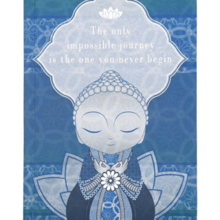 Little Buddha – Notebook – The Only Impossible Journey is the One You Never Begin