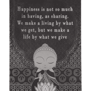 Little Buddha – Notebook – Make a Life By What We Give