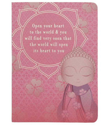 Little Buddha – Notebook – Open Your Heart to the World