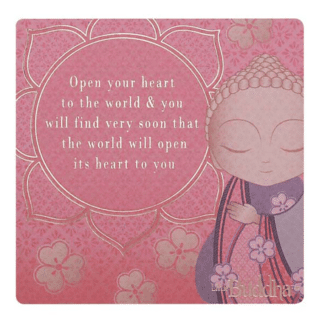 Little Buddha – Magnet – Open Your Heart to the World