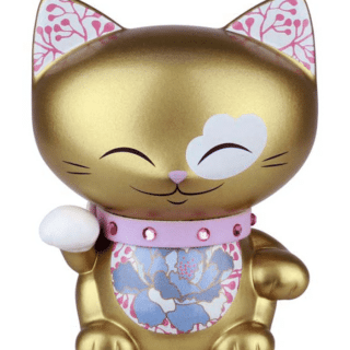 Mani The Lucky Cat Figurine – Gold - Small, good luck gifts for her