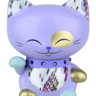 Mani The Lucky Cat Figurine – Dark Lavender - Small, lucky gifts for her