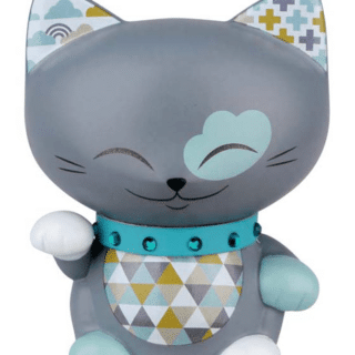 Mani The Lucky Cat Figurine – Grey - Small, lucky gifts, gifts for girls