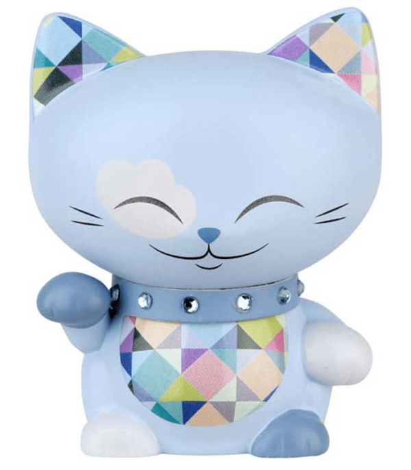 Mani The Lucky Cat Figurine – Powder Blue - Small, gift idea for girls