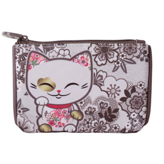 Mani The Lucky Cat – Coin Purse – Dark Violet (Cat 030)