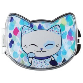 Mani The Lucky Cat Compact Mirror – Blue (Cat 025)