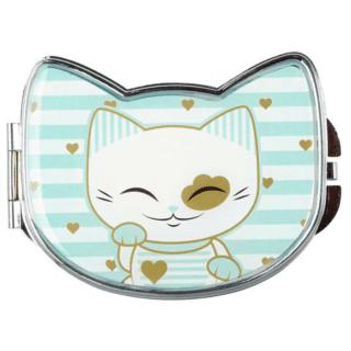 Mani The Lucky Cat Compact Mirror – Light Blue (Cat 028)