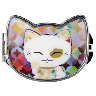 Mani The Lucky Cat Compact Mirror – White (Cat 029)