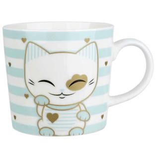 Mani The Lucky Cat Mug – Light Blue (Cat 027)