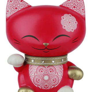Mani The Lucky Cat Figurine – Red - Medium, gifts for teenage girls