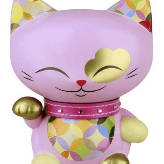 Mani The Lucky Cat Figurine – Light Orchid - Medium, gifts for teenage girl