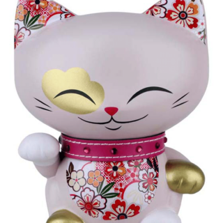 Mani The Lucky Cat Figurine – Lavender - Medium, gifts for teenage girls