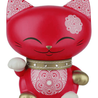 Mani The Lucky Cat Money Bank – Red, gifts for her, lucky gifts