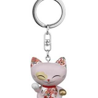 Mani The Lucky Cat Keychain – Lavender. Gifts for girls, lucky gifts