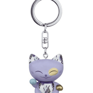 Mani The Lucky Cat Keychain – Dark Lavender, gifts for girls, lucky gifts