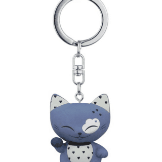 Mani The Lucky Cat Keychain – Dark Blue, gifts for girls, good luck gifts