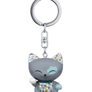 Mani The Lucky Cat Keychain – Grey, gifts for girls, lucky gifts