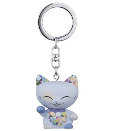Mani The Lucky Cat Keychain – Light Blue Violet, gifts for girls