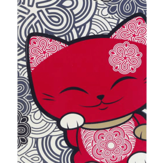 Mani The Lucky Cat – Notebook – Red and Black