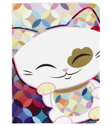 Mani The Lucky Cat – Small Notebook – White (Cat029)