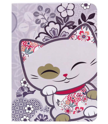 Mani The Lucky Cat – Small Notebook – Lavender (Cat030)