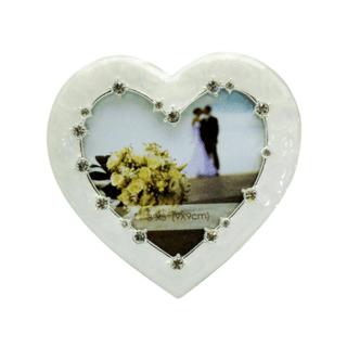 Dakota – Small Wedding Heart Photo Frame with Diamante