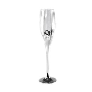 18th Birthday Silver Champagne Flute