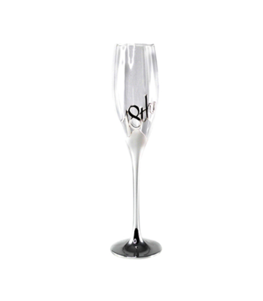 18th Birthday Silver Champagne Flute