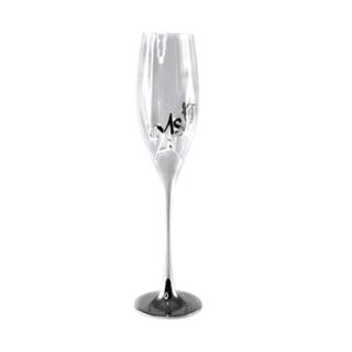 21st Birthday Silver Champagne Flute