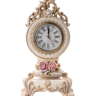 Russell – Resin Floral Small Clock Julia with Diamante
