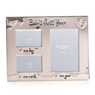Baby's First Year Silver Look Photo Frame