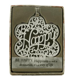 Delicate Words – Be Happy Sentiment Hanger