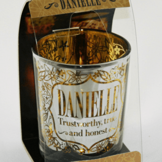 Metallics Personalised Candle Pot with Name Meaning – Danielle
