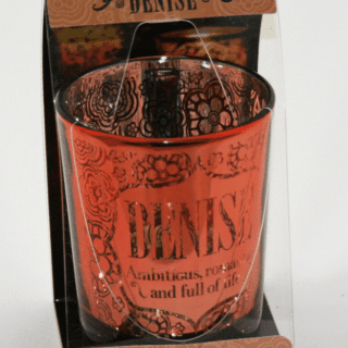 Metallics Personalised Candle Pot with Name Meaning – Denise