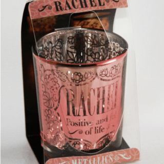 Personalised Candle Pot – Rachel. Personalised gifts for her