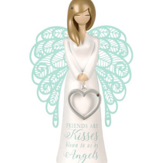 You Are An Angel Figurine -Friends are kisses blown to us by angels