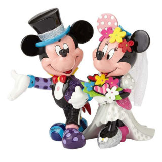 Britto Disney Mickey & Minnie Wedding Figurine. Disney Collectibles